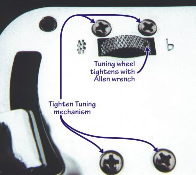 Photo G: Tuning mechanism, exterior view