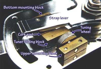 Photo H: Tuning Mechanism, interior top view