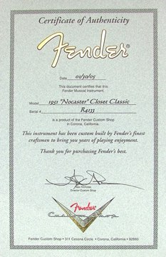Fender 1951 Nocaster for sale