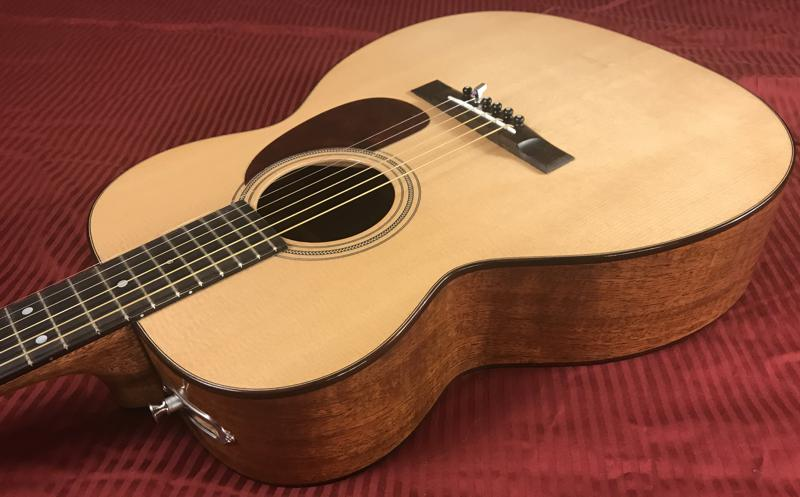 Beautiful OM style guitar built by David Dart for sale